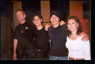 John Cuiberti, Florent Atem Joe Satriani and Carole Atem